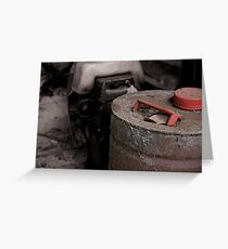 Old rusty fuel container Greeting Card