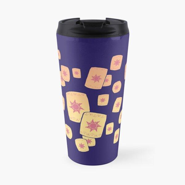 Floating Lanterns Gleam Travel Mug