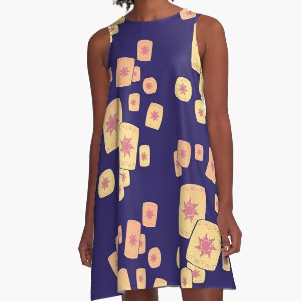 Floating Lanterns Gleam A-Line Dress