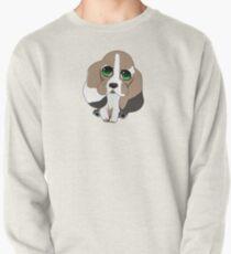 Chibi Basset Hound Pullover Sweatshirt