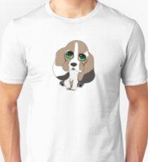 Chibi Basset Hound Slim Fit T-Shirt