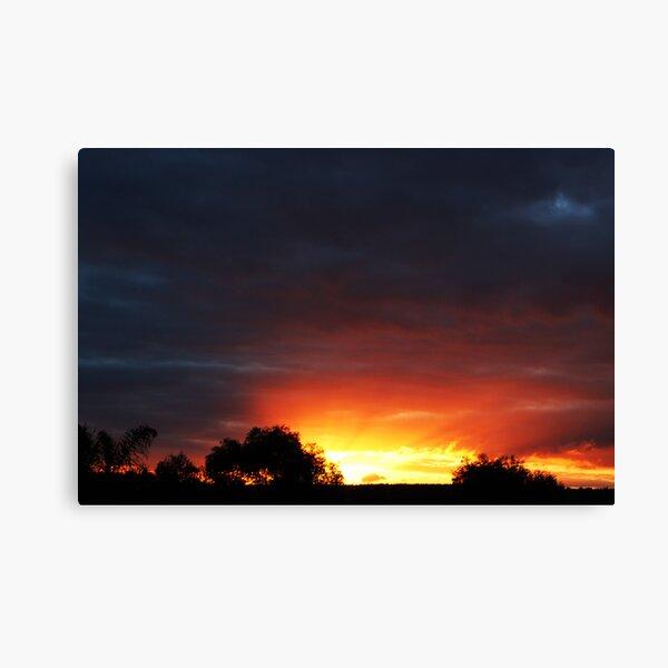 A Frankland River Sunset Canvas Print