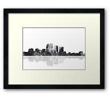 Louisville, Kentucky Skyline - Black and White Framed Print