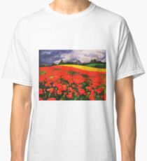 Poppies before the Storm Classic T-Shirt