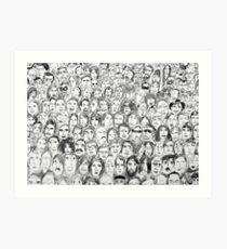 the audience Art Print