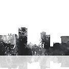 Little Rock, Arkansas Skyline - schwarz und weiß von Marlene Watson
