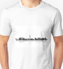 Las Vegas, Nevada Skyline - Black and White T-Shirt