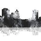 Montgomery Alabama Skyline - schwarz und weiß von Marlene Watson
