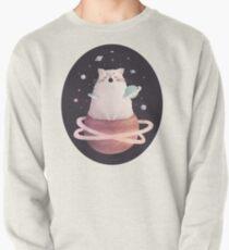Yawning Space God Cat Pullover Sweatshirt