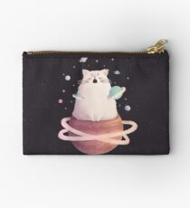 Yawning Space God Cat Zipper Pouch