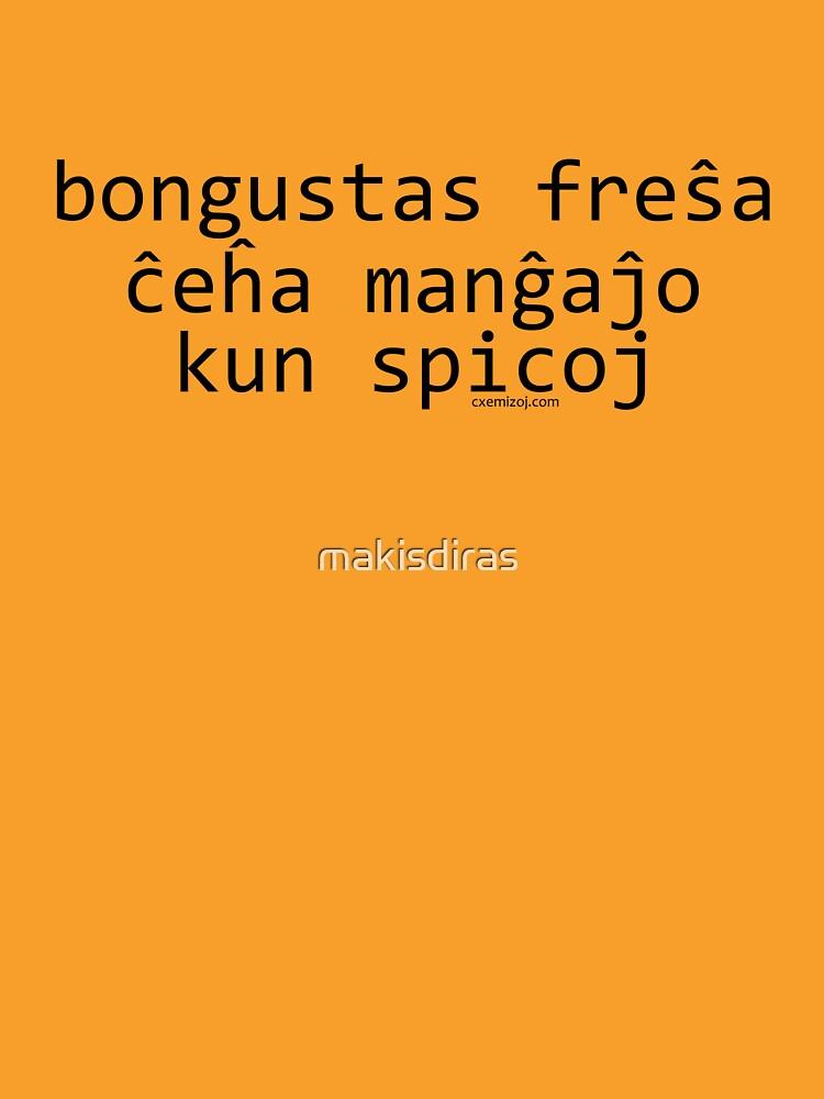 Bongustas freŝa ĉeĥa manĝaĵo kun spicoj by makisdiras