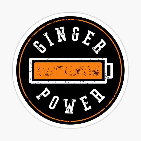 Ginger Power - Funny Ginger Battery Sticker