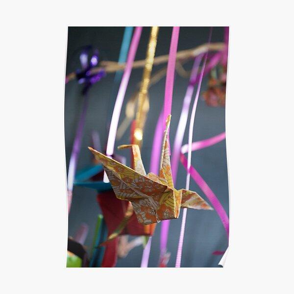 Origami Paper Crane Poster