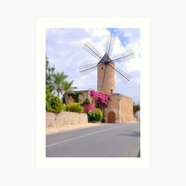 Majorca Mill Art Print
