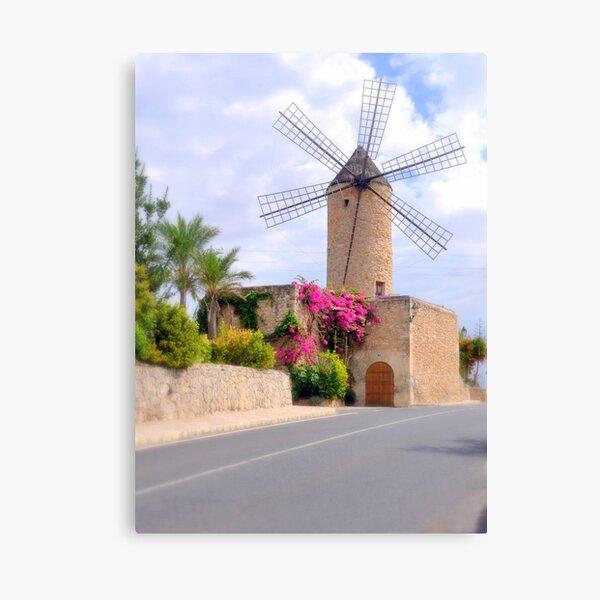 Majorca Mill Canvas Print