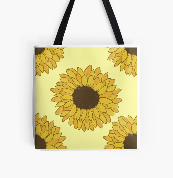 Yellow and Orange Sunflowers All Over Print Tote Bag