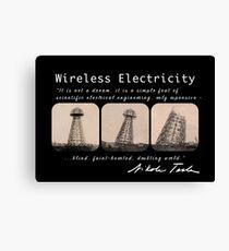 Nikola Tesla - Wireless Electricity Canvas Print