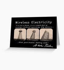 Nikola Tesla - Wireless Electricity Greeting Card