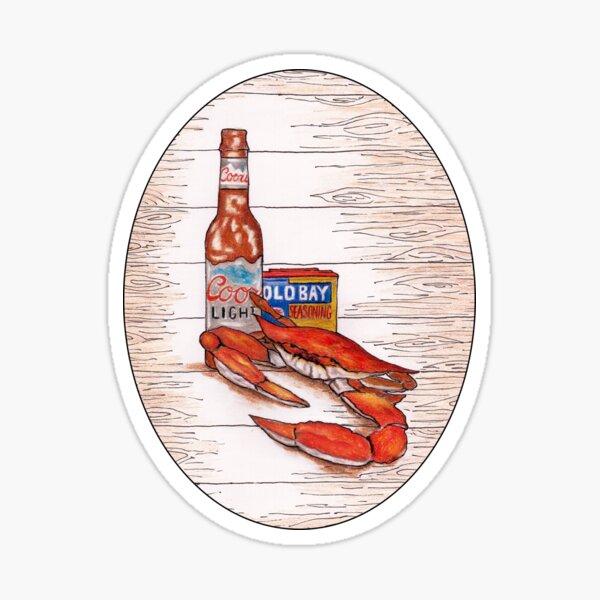Pop Art Crab Old Bay Coors Light  Sticker