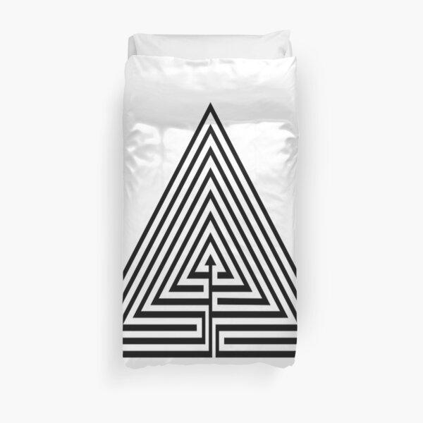 Math, #Maze, #лабиринт, #путаница, #labyrinth, безвыходное положение, трудное положение, intricacy Duvet Cover