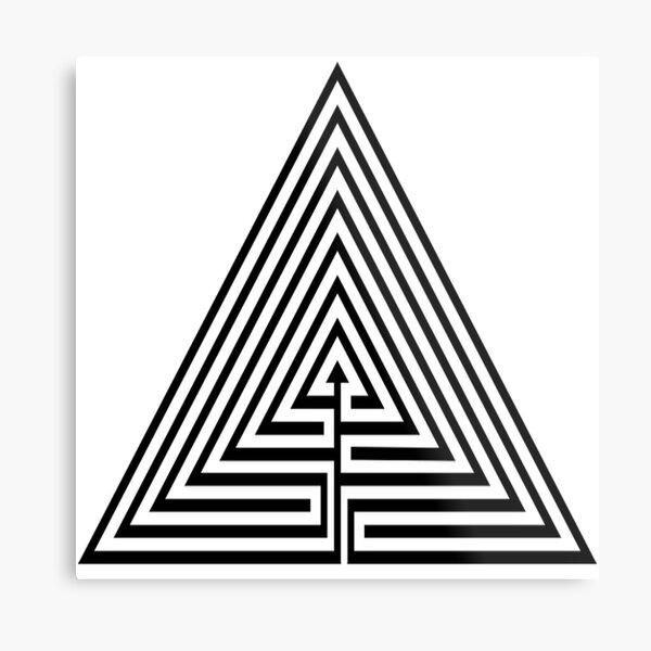 Mathematics, #Maze, #лабиринт, #путаница, #labyrinth, безвыходное положение, трудное положение, intricacy Metal Print