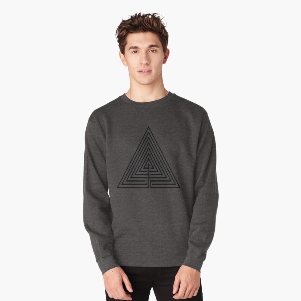 #Maze, #лабиринт, #путаница, #labyrinth, безвыходное положение, трудное положение, intricacy Pullover Sweatshirt