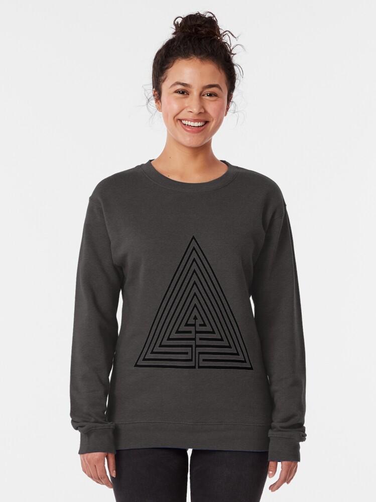 Alternate view of #Maze, #лабиринт, #путаница, #labyrinth, безвыходное положение, трудное положение, intricacy Pullover Sweatshirt
