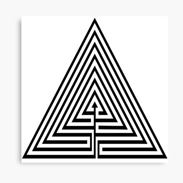 Math, #Maze, #лабиринт, #путаница, #labyrinth, безвыходное положение, трудное положение, intricacy Canvas Print
