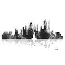 New York, NY Skyline - schwarz und weiß von Marlene Watson