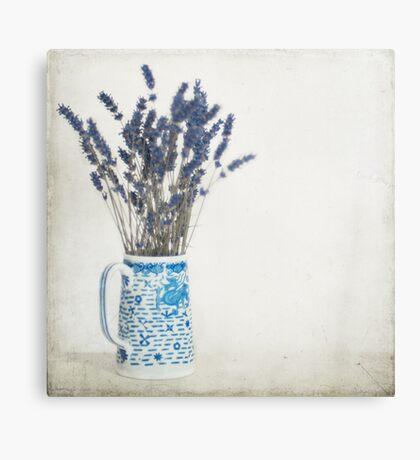 Lavender in Blue and White Jug Canvas Print