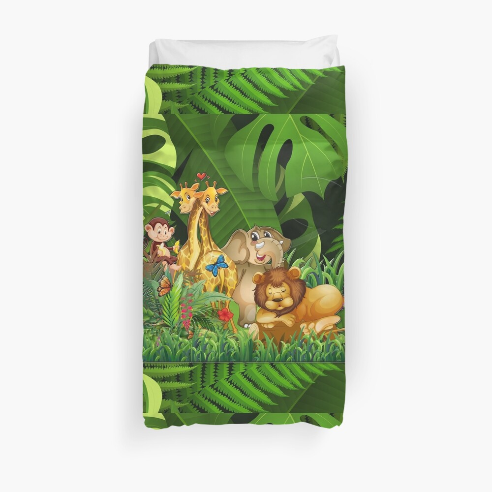 Kids Jungle Room Duvet Cover