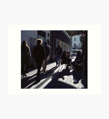A Street Scene! Art Print