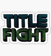 Title Fight logo Sticker