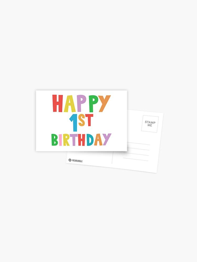 Joyeux Premier Anniversaire Extra Large Carte de Vœux 1st vieux de 1 ans Parti Bear garçons