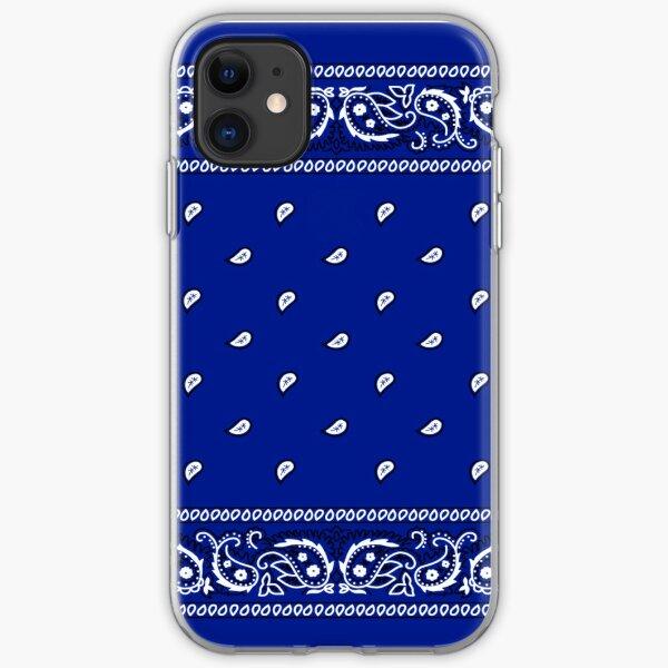 Bandana Royal Blue iPhone Soft Case