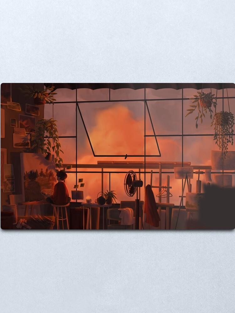 Alternate view of art studio Metal Print
