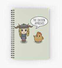 """""""The Chicken Approves"""" HTTYD Race to the Edge Spiral Notebook"""