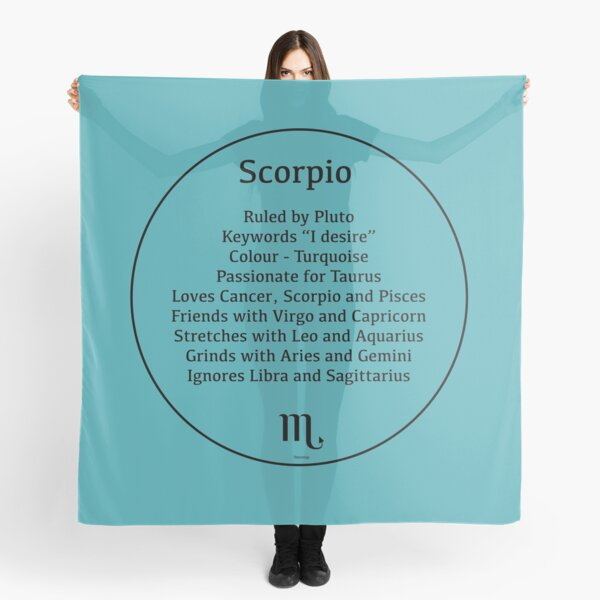 Scorpio the Scorpion - Zodiac Sign Compatibility  Scarf