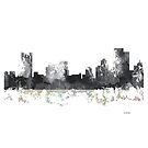 Pittsburgh, Pennsylvannia-Skyline - B & W von Marlene Watson