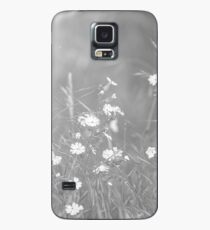 English Countryside Flowers in Black and White Case/Skin for Samsung Galaxy