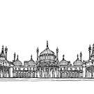 Brighton Royal Pavilion Facade. by Adam Regester