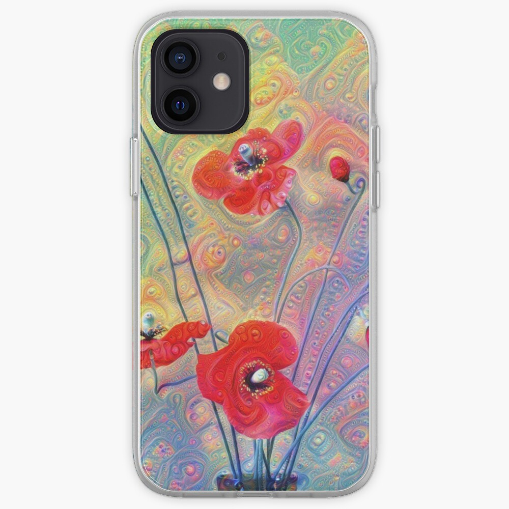 #Deepdreamed Poppies iPhone Case & Cover
