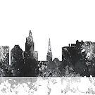 Providence, Rhode Island Skyline - B & W von Marlene Watson