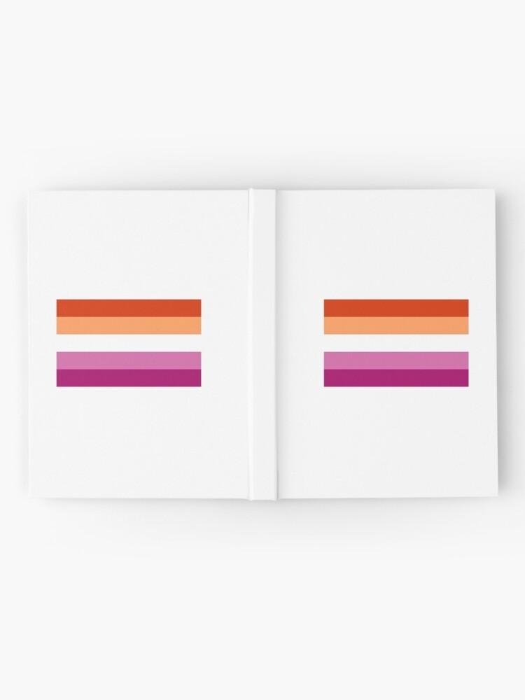 Vista alternativa de Cuaderno de tapa dura Nueva bandera lesbiana