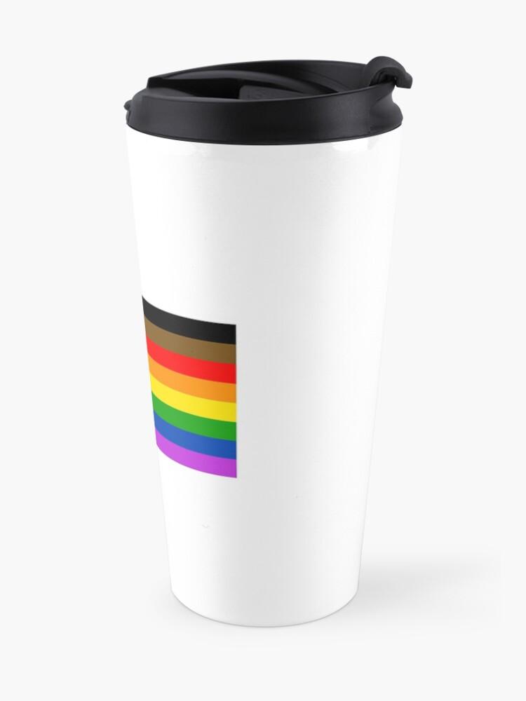 Vista alternativa de Taza de viaje Bandera del orgullo gay