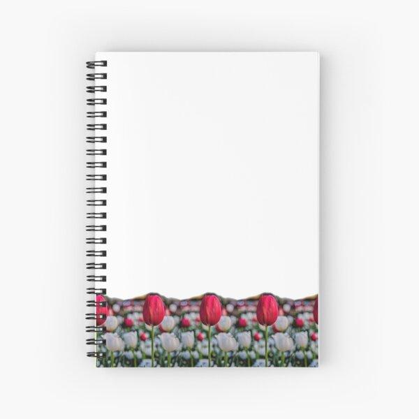 Red tulip streamline Spiral Notebook