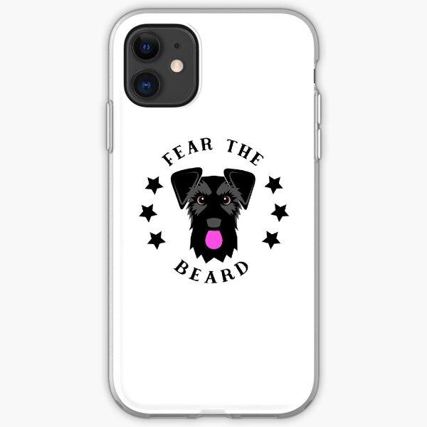 Funny Black Schnauzer Fear the Beard iPhone Soft Case