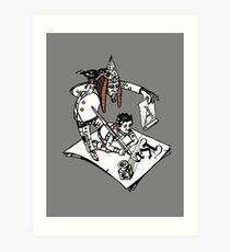Kaligrafie Kunstdruck
