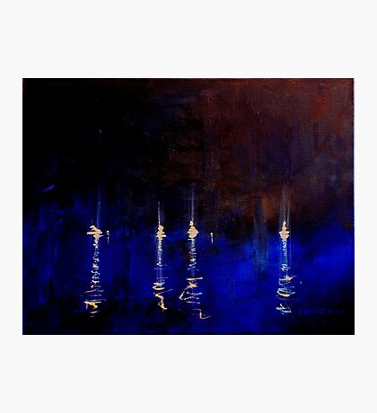 Yachts by night Photographic Print
