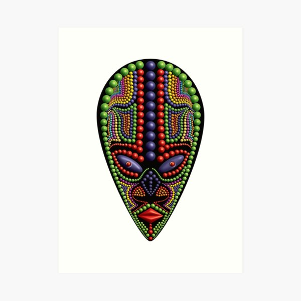 African Mask 06 Art Print